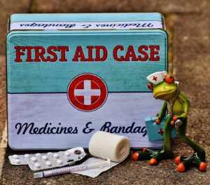 First Aid Case & Frog